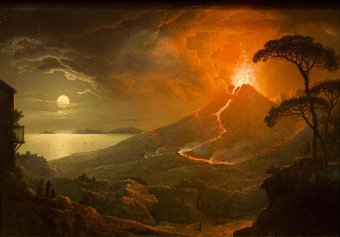 The Eruption of Mt  Vesuvius in Paintings list