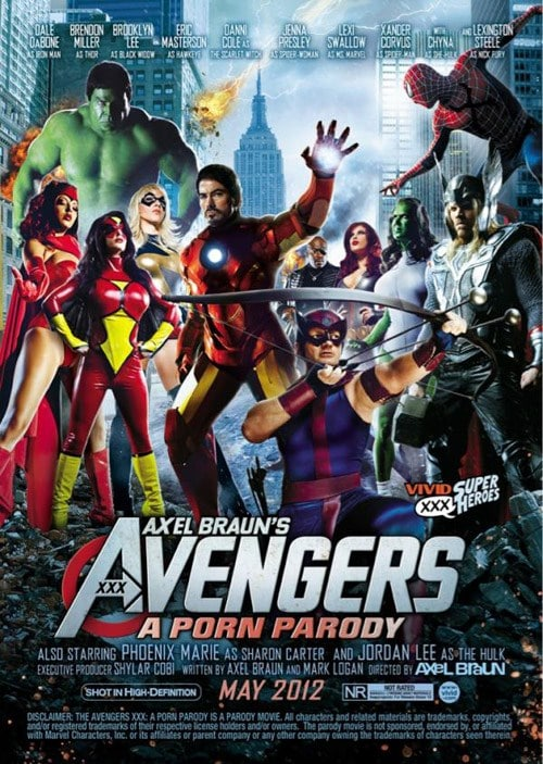 XXX Superhero Movies list